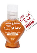 Mini Liquid Love Flavored Warming Massage Lotion Cinnamon...