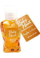Body Heat Edible Warming Massage Lotion Peaches N Cream...