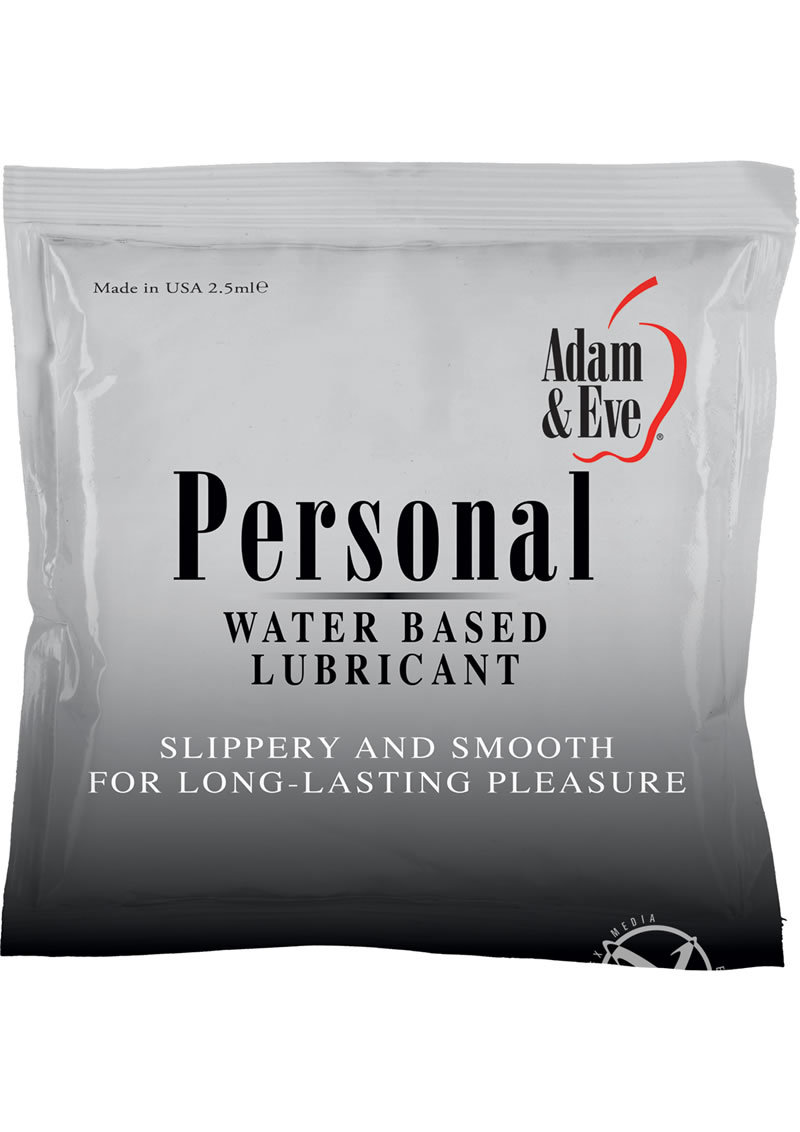 Adam And Eve Personal Water Based Lube Foil Pack 2.5 Milliliter