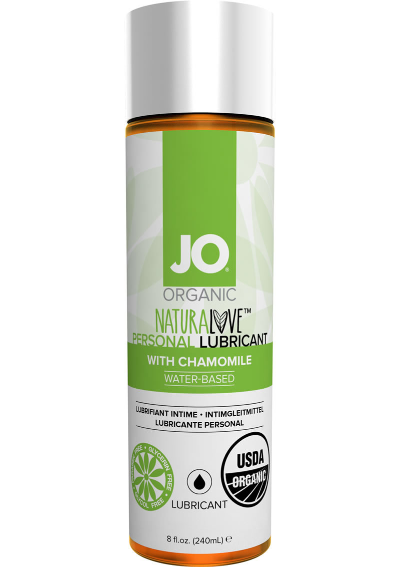 Jo Organic Naturalove Personal Waterbased Lubricant With Chamomile 8 Ounce