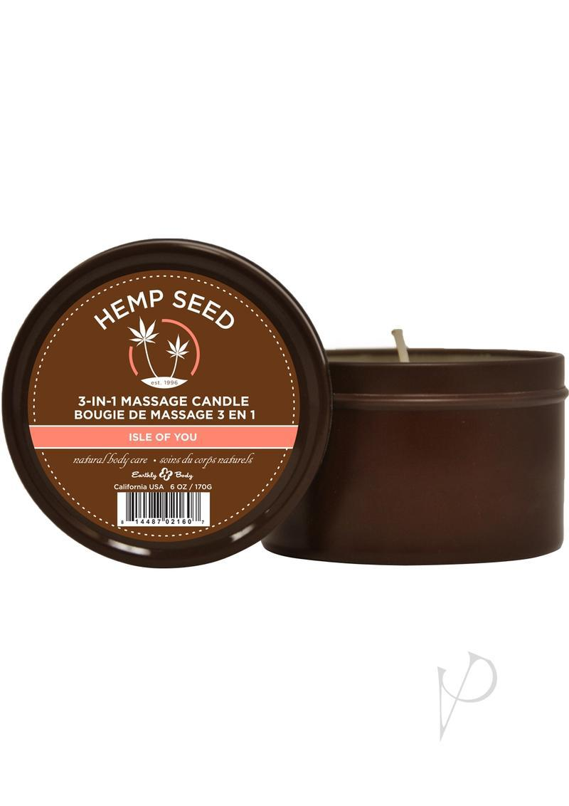 Hemp Seed 3 In 1 Massage Candle Isle Of You 6 Ounce